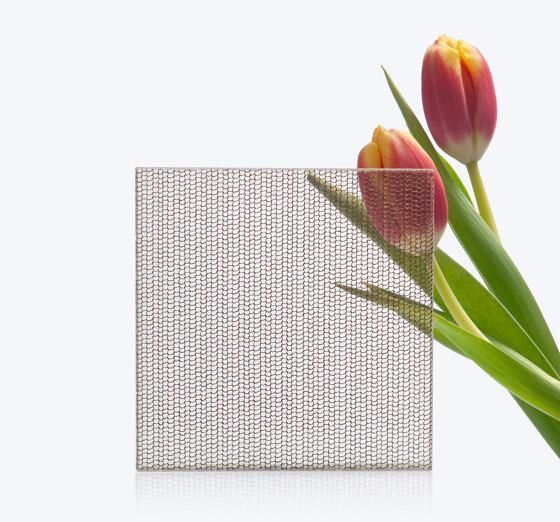 Glam Metallics | Metal_Mesh_Br by S-Plasticon | Decorative glass