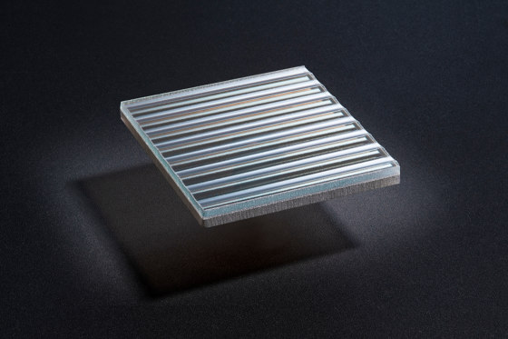 Glam Raised | Riga_Bronze by S-Plasticon | Decorative glass
