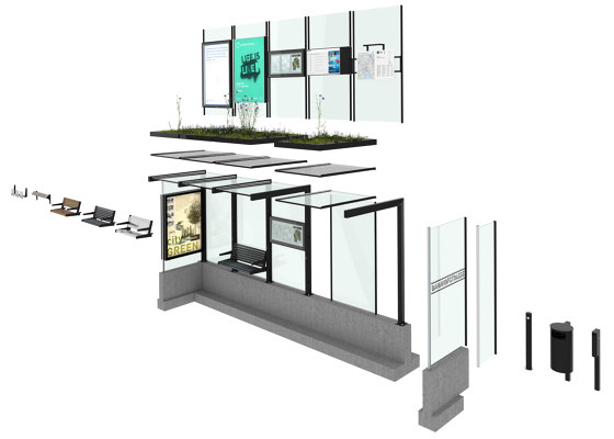 HSI ONE by BURRI | Bus stop shelters