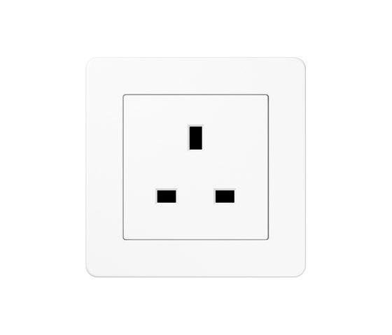 A flow   British Standard white by JUNG   British sockets