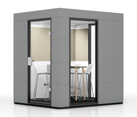 Meeting Unit   Dark Grey by OFFICEBRICKS   Soundproofing room-in-room systems