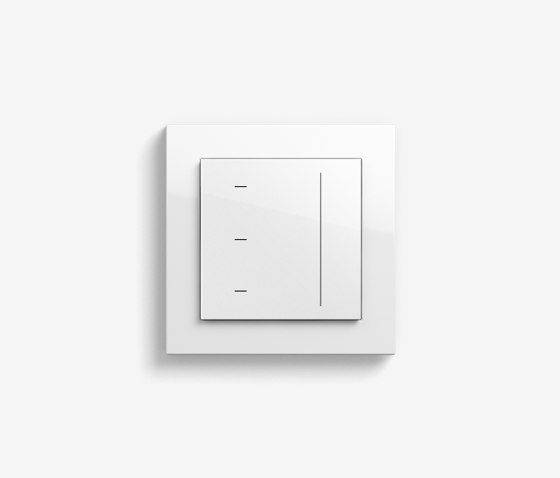 Blind Control   System 3000 Touchdisplay   pure white glossy (including E2) by Gira   Lighting controls