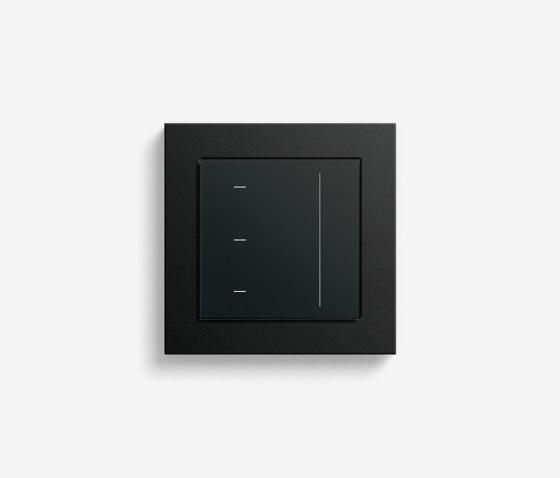 Blind Control   System 3000 Touchdisplay   black matt (including E2) by Gira   Lighting controls