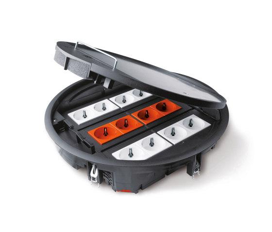 Bodensanschlusssysteme by Hager | Schuko sockets