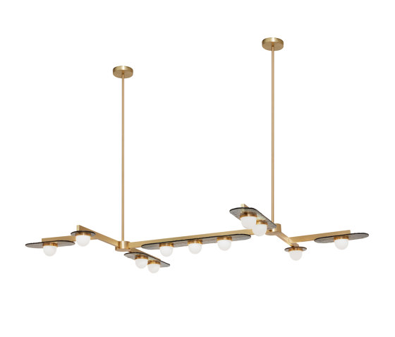 Modulo chandelier grid 11 by CTO Lighting | Suspended lights