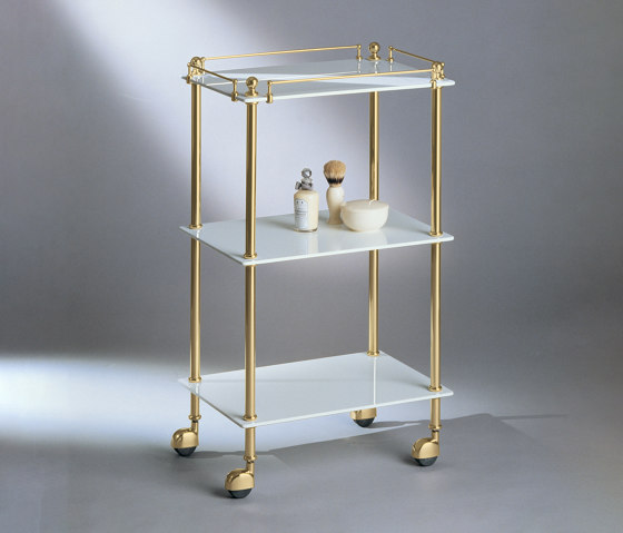 Tavolino white glass by Aquadomo | Bath shelving
