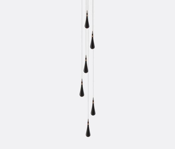 Rain Drop 6 Grey by Shakuff   Suspended lights