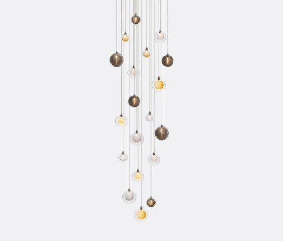 Kadur Drizzle 19 Mixed Colors by Shakuff   Suspended lights