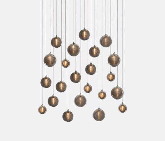 Kadur Drizzle 22 Grey Outer by Shakuff   Suspended lights