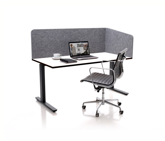 ATG silent.desk - one-sided connector by silent.office.wall   Table accessories