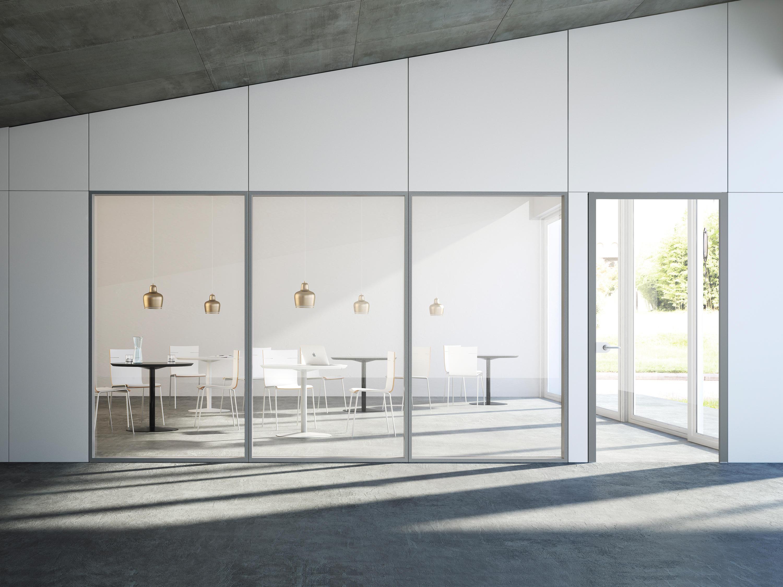 Parete Divisoria Con Porta Scorrevole i-wallspace - sistemi di pareti divisorie fantoni | architonic