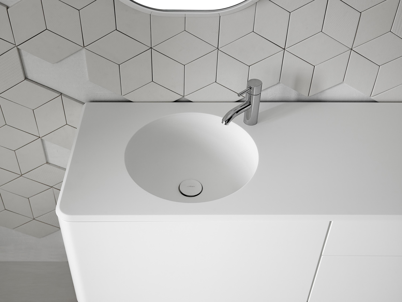 Piano Lavabo In Corian cerclo coperchio con lavandino integrato in corian® | architonic