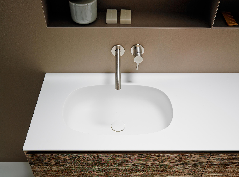 Piano Lavabo In Corian ovalo coperchio con lavandino integrato in corian® | architonic