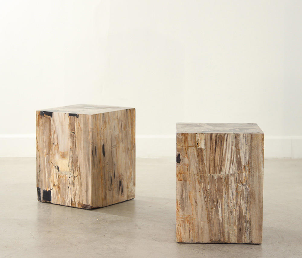 Genuine Petrified Wood Cube Table Side Tables From Pfeifer