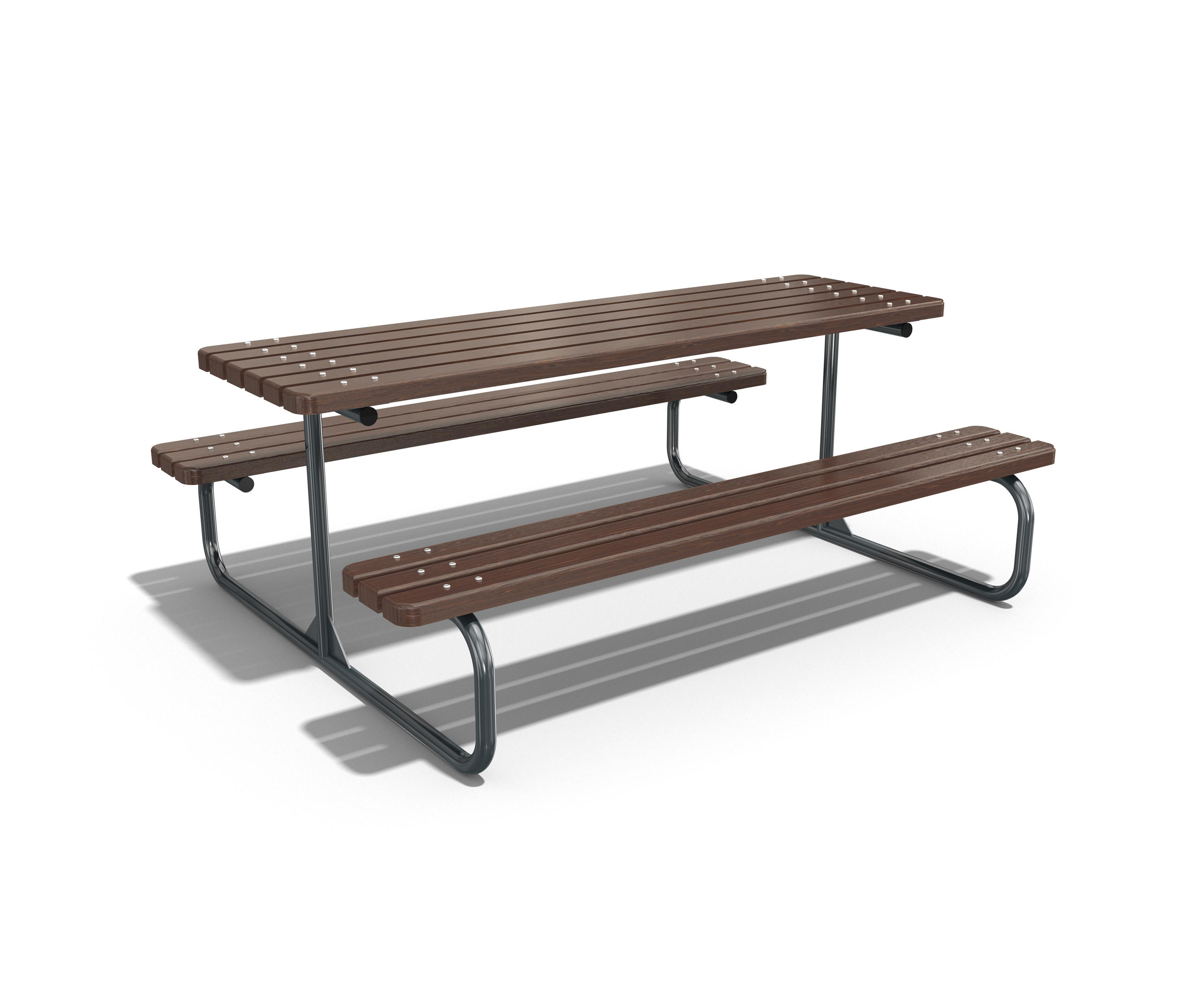 Metal picnic table 113 by ete tables and benches