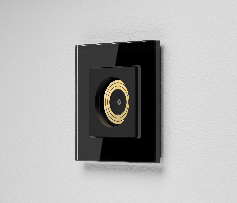 plug light gira lichtsteckdose esprit glas schwarz dimmer switches from gira architonic