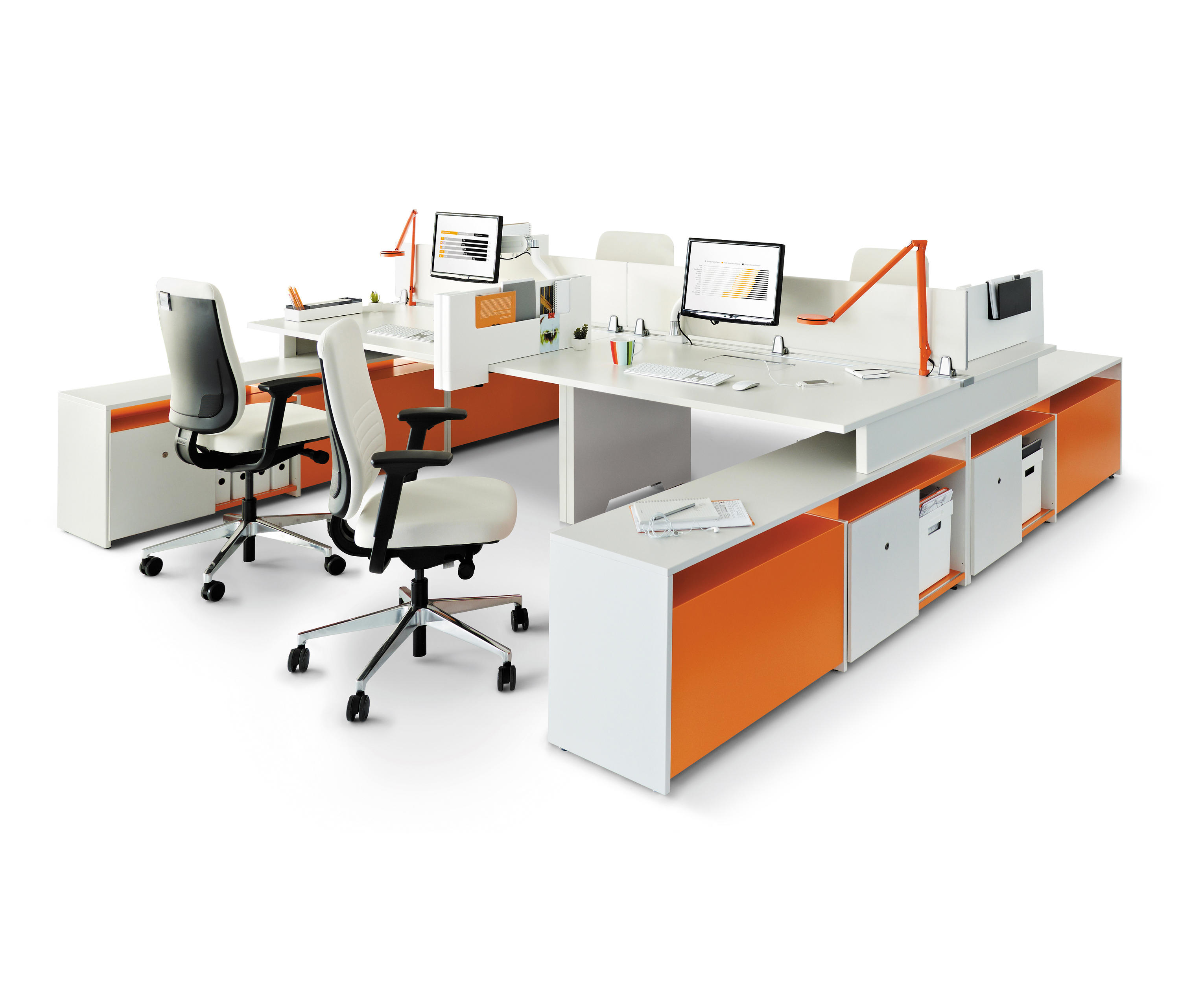 Fusion Bench Desks From Steelcase Architonic