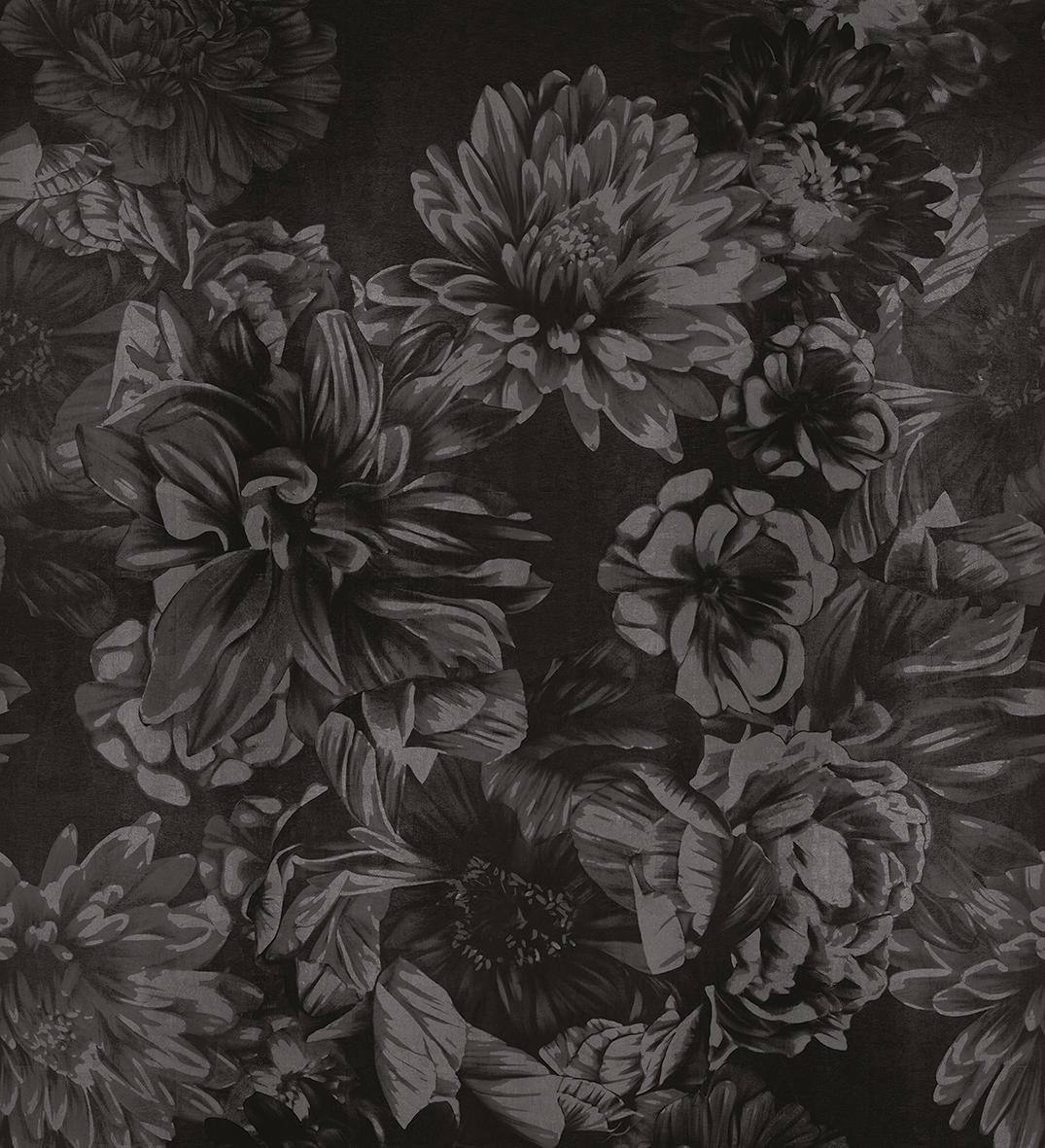 Dark Floral Wall Coverings Wallpapers From Londonart Architonic