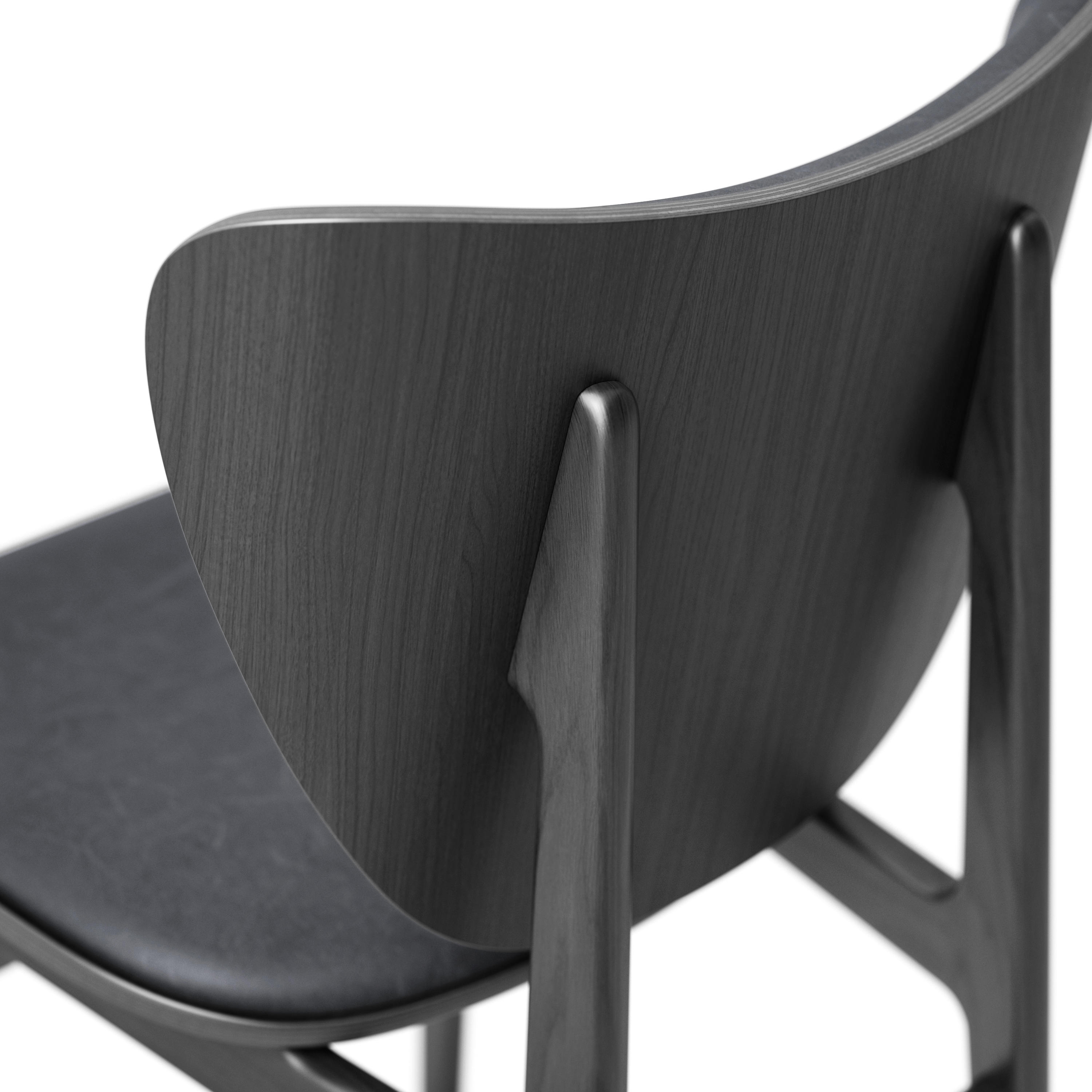 Elephant Dining Chair Black Vintage Leather Anthracite