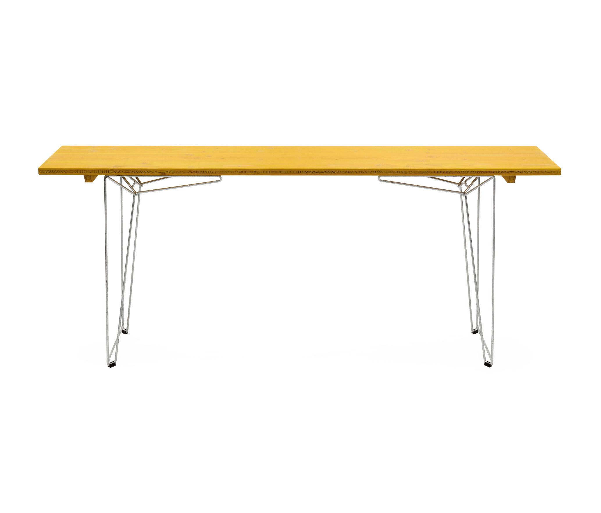tisch und bank btb platte zinkgelb ral 1018 esstische. Black Bedroom Furniture Sets. Home Design Ideas