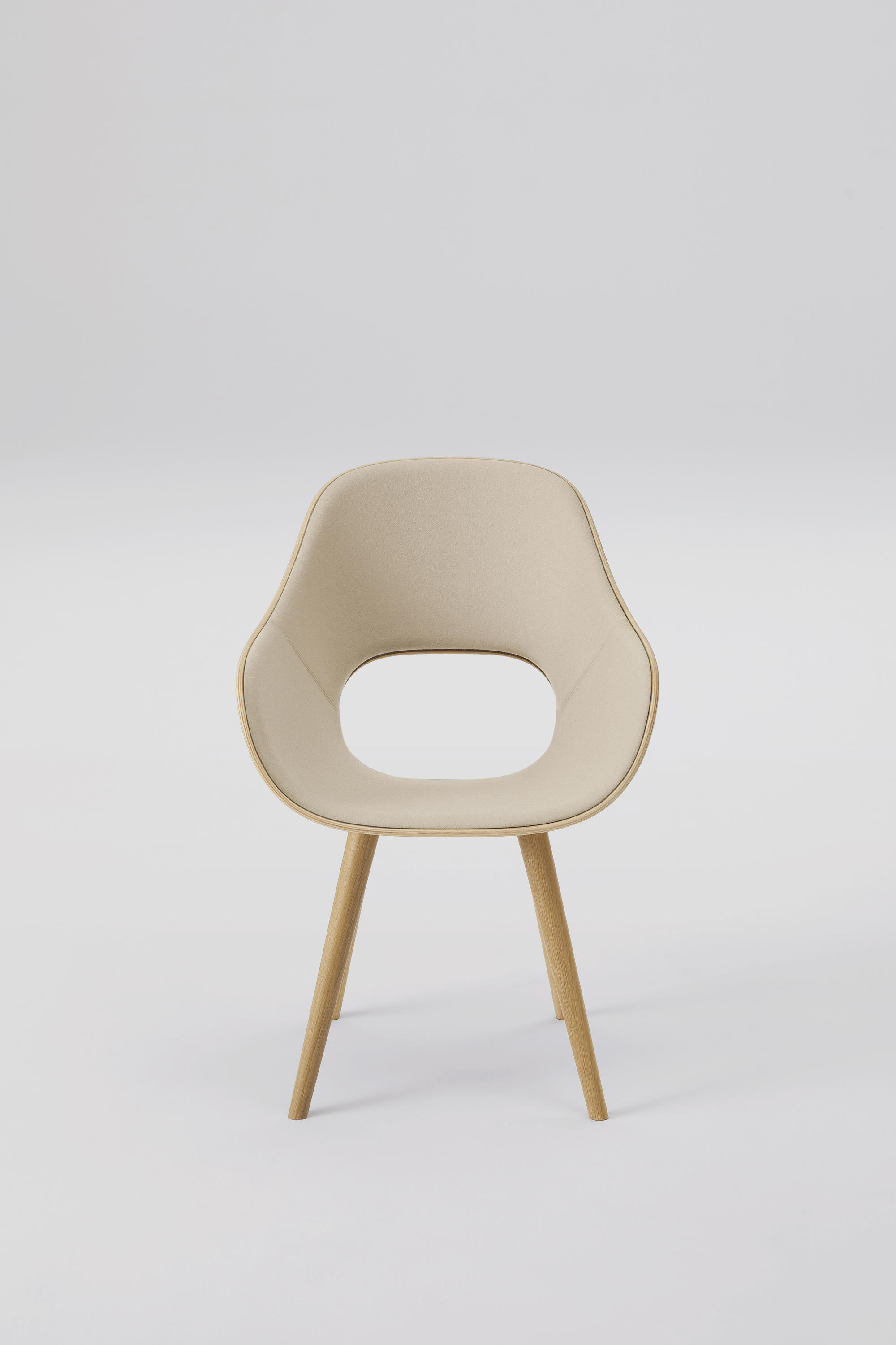 Roundish Arm Chair Cushioned Architonic