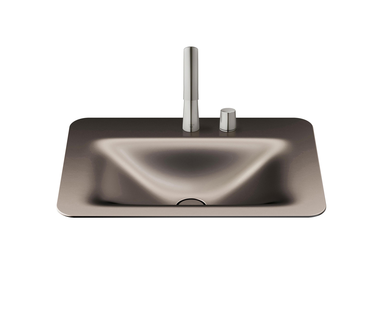 Espace Entre 2 Vasques basins | vasque à encastrer de 660 mm et 2 trous pour