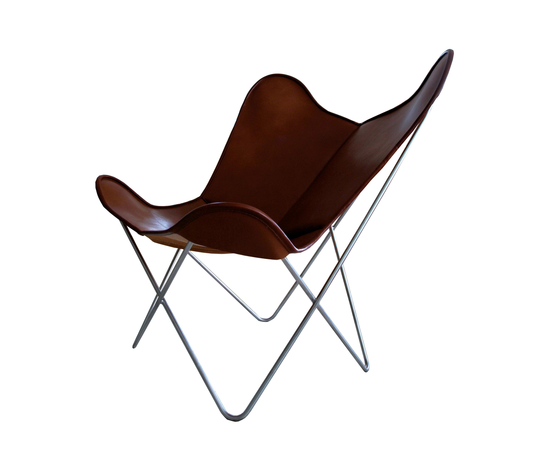 Hardoy Butterfly Chair ORIGINAL Leder tabakbraun   Architonic