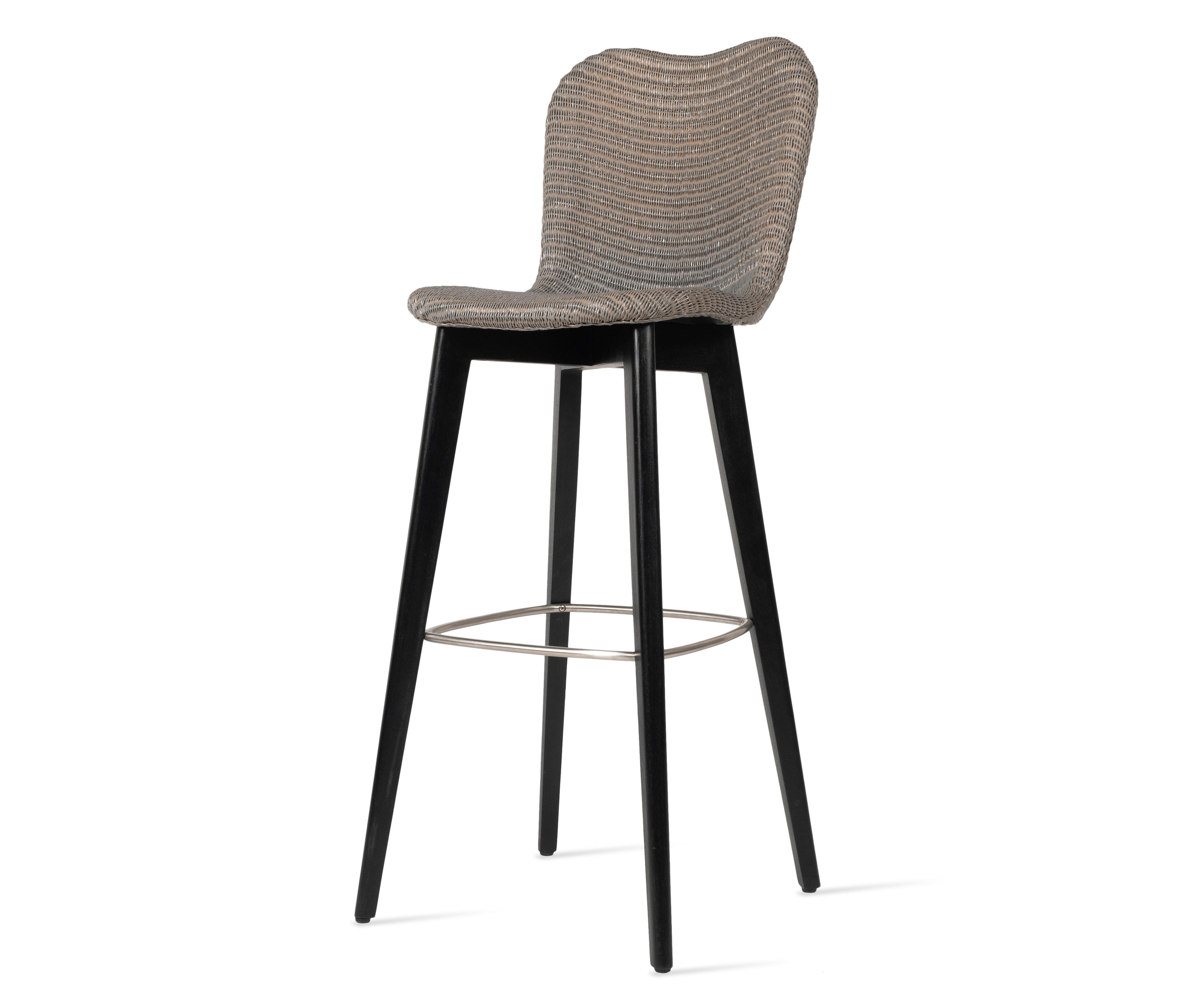 Fantastic Lily Bar Stool Black Wood Base Architonic Pabps2019 Chair Design Images Pabps2019Com