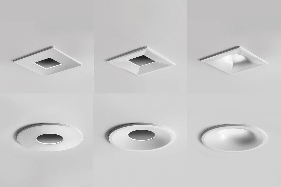 Combina D, interchangeable indoor downlights   Diseño